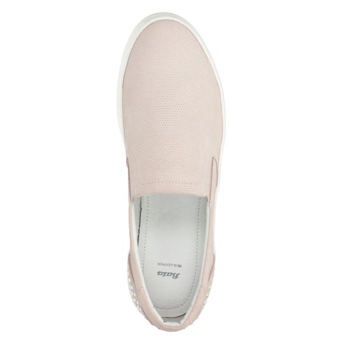 Damen-Slip-Ons aus Leder bata, Rosa, 533-5600 - 15