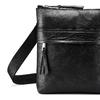 Schwarze Crossbody-Tasche aus Leder bata, Schwarz, 964-6288 - 15