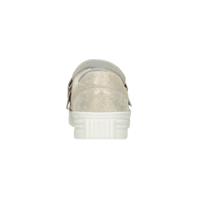 Leder-Slip-Ons mit Schleifchen bata, Rosa, 536-5600 - 16