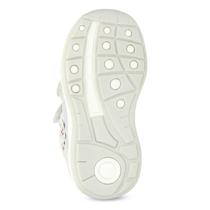 Graue, knöchelhohe Kinder-Sneakers bubblegummer, Grau, 129-2602 - 18