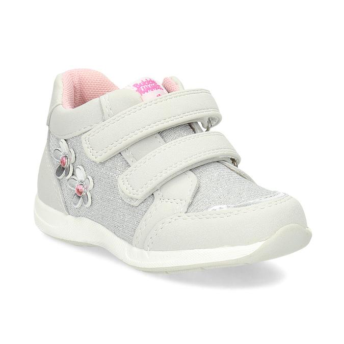 Graue, knöchelhohe Kinder-Sneakers bubblegummer, Grau, 129-2602 - 13