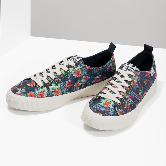 Damen-Sneakers mit Blumenmuster north-star, Schwarz, 589-6446 - 16