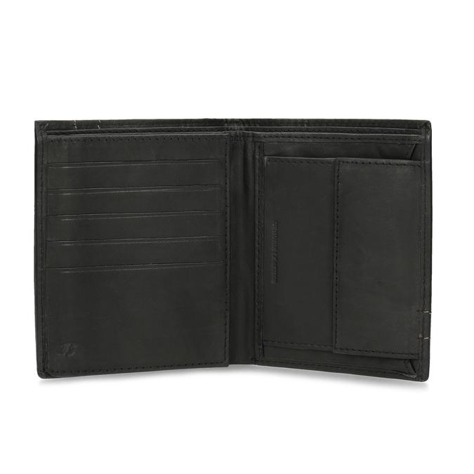 Leder-Geldbörse mit Steppnaht bata, Braun, 944-6148 - 15