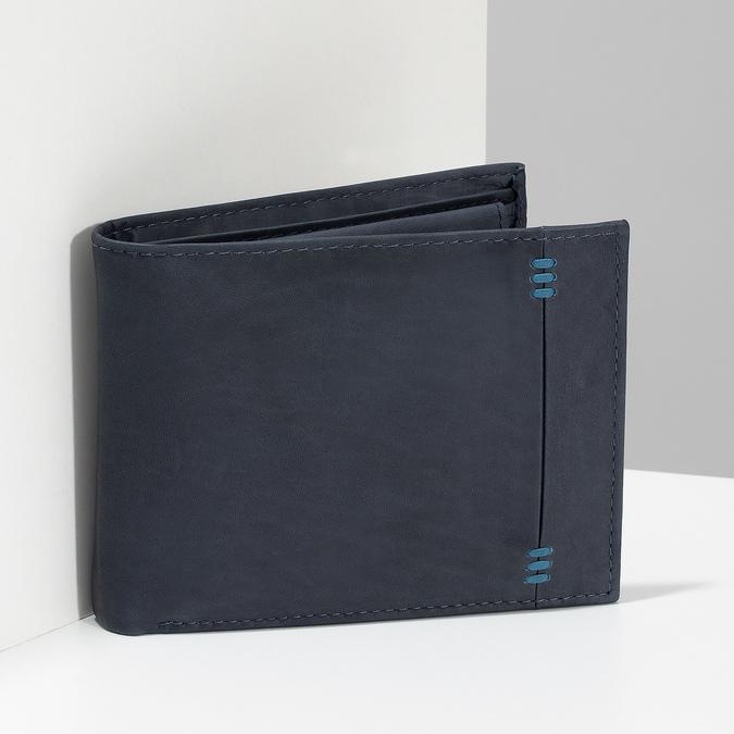 Herren-Geldbörse aus Leder bata, Blau, 944-9188 - 17